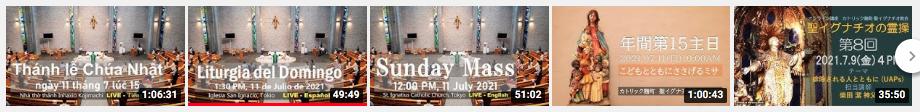 Misa Dominical en YouTube